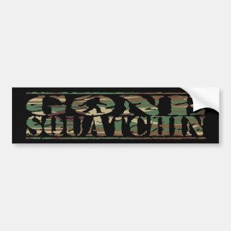 Camo Gone Squatchin Bumper Sticker
