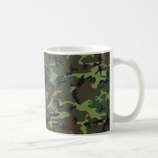 [CAMO-GR-1] Green and brown camo Basic White Mug