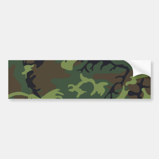 [CAMO-GR-1] Green and brown camo Bumper Sticker