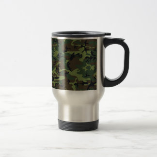 [CAMO-GR-1] Green and brown camo Travel Mug