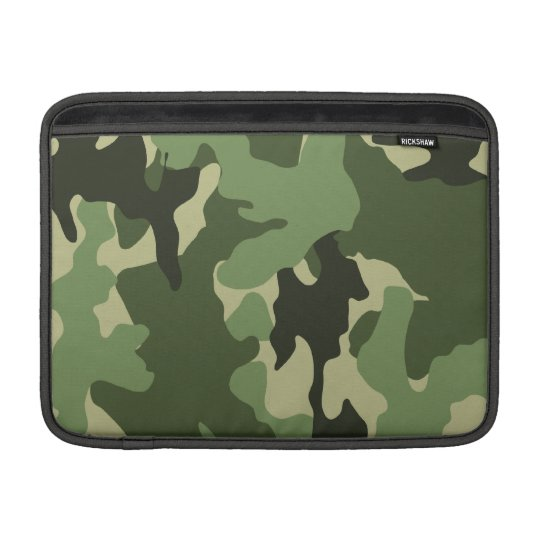 Camo Green 13 Inch Macbook Air Sleeve - Horizontal