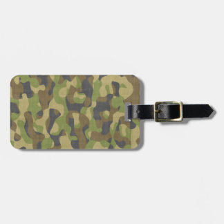 Camo Greens & Browns Luggage Tag