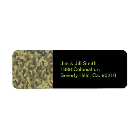 Camo Greens & Browns Return Address Label