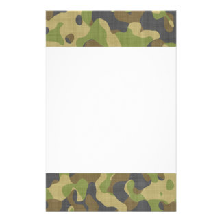 Camo Greens & Browns Stationery