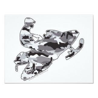 Camo Grey Sled on Black copy 11 Cm X 14 Cm Invitation Card