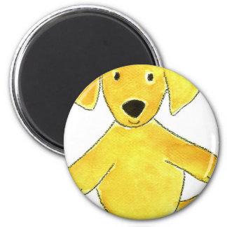 Camo Hat Yellow Lab 6 Cm Round Magnet