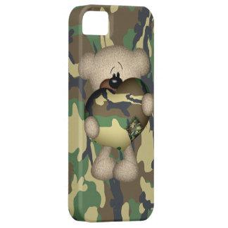 Camo Heart Military Teddy Bear iPhone 5 Covers