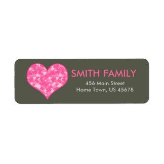 Camo Heart Return Label Return Address Label