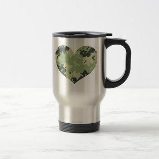 Camo Heart Stainless Steel Travel Mug