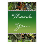 Camo Hunting Themed Wedding Thank You Cards - Tall