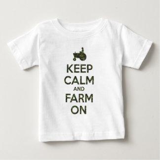 Camo Keep Calm and Farm On Shirt