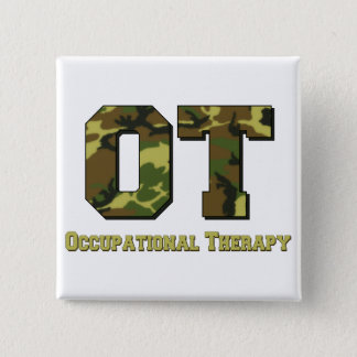 camo letters green 15 cm square badge