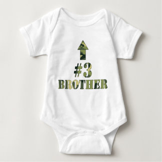 Camo LITTLE Brother shirt / #3 brother / third bro