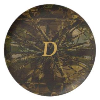 Camo Lover Petal Design Plate