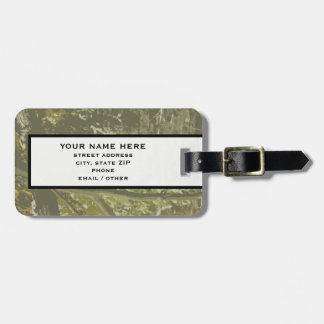 Camo Luggage Tag