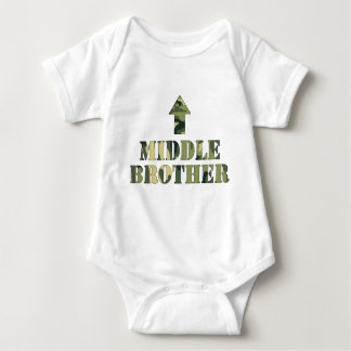 Camo Middle Brother shirt / great baby shower idea