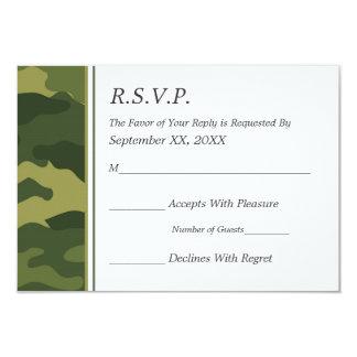 Camo Military Wedding RSVP 9 Cm X 13 Cm Invitation Card