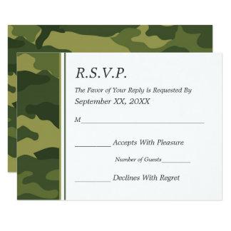 camo military wedding rsvp card - Military Wedding Invitations