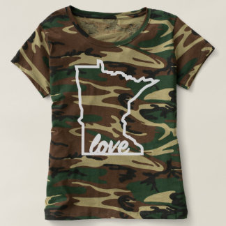 Camo Minnesota Love White T-Shirt