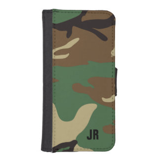 Camo Monogrammed Phone Wallets
