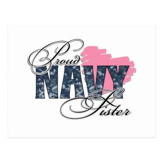 Camo Navy Sister Postcard