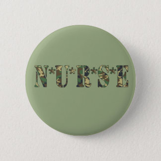 Camo Nurse Button