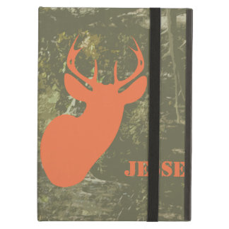 Camo & Orange Deer iPad Case With Kickstand
