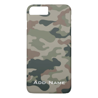 Camo Pattern for hunters or military with Name iPhone 8 Plus/7 Plus Case