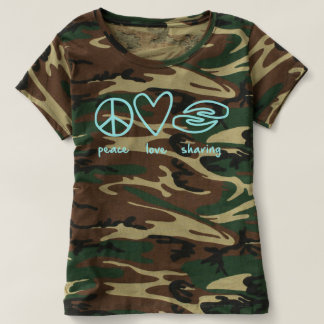 Camo Peace Love Sharing T-Shirt