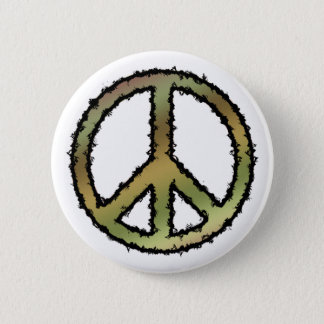 Camo Peace Sign 6 Cm Round Badge