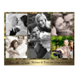Camo Photo Collage Save the Date Postcard