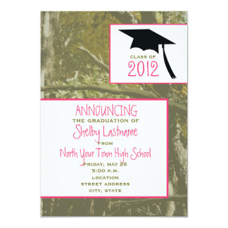 Camo & Pink 2012 Graduation Announcement