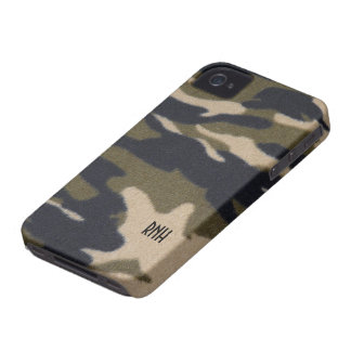 Camo Print Pattern in Jungle Army Green Blackberry Case-Mate iPhone 4 Cases