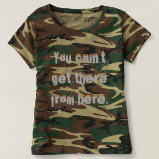Camo Redneck Country Road Directions T-Shirt