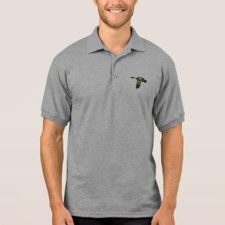 Camo Silhouette - Mallard Duck in Flight Polo Shirt