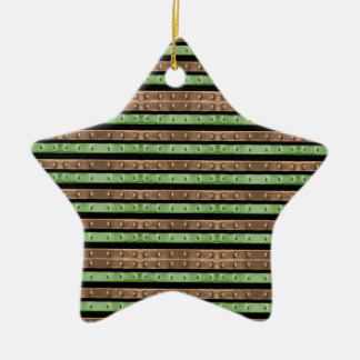 Camo Stripes Print Christmas Ornament