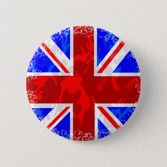 Camo Union Jack 6 Cm Round Badge