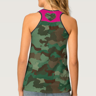 Camo with Heart Tank Top