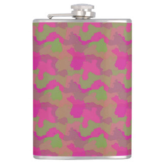 Camo with Pink Hip Flask