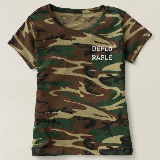 Camo Women's Deplorable Shirt