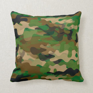 Camoflage-Style Throw Pillow