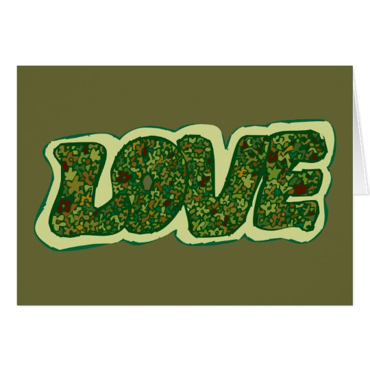 Camoflauge Love Card