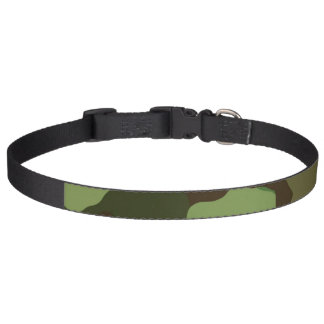 Camoflauge Print Pet Collar Greens and Browns