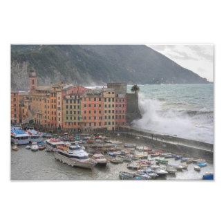 Camogli during a storm photo