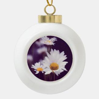 Camomile dreams ceramic ball christmas ornament