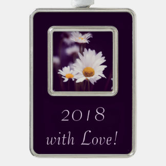 Camomile dreams silver plated framed ornament