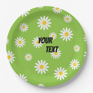 Camomile Flowers Party Paper Plate