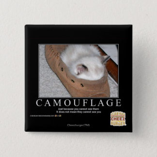 Camouflage 15 Cm Square Badge