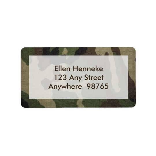 Camouflage 1 address label
