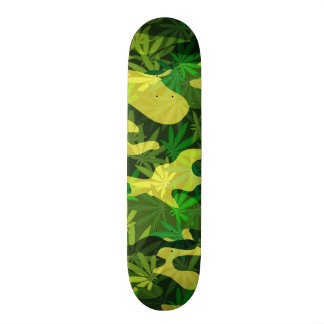 camouflage 21.6 cm old school skateboard deck
